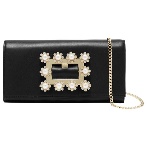 Ted Baker Clairia Leather Embellished Buckle Purse Black vWo1y9DDr