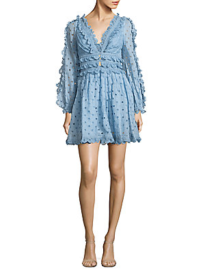 Zimmermann Winsome Lace Trimmed Tea Dress Sky tPIfSfHbOh