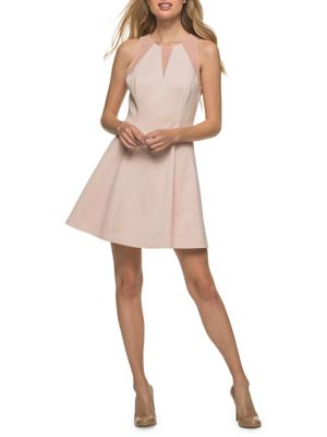 GUESS Textured Illusion Fit And Flare Dress Blush qYVXEU