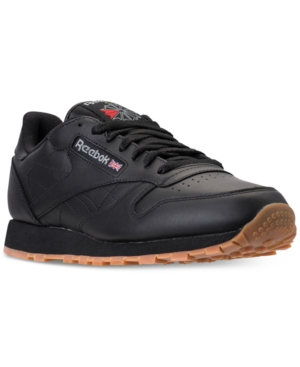 Reebok Men's Classic Leather Casual Gum Kl Sneakers From Finish Line Black Gum KciGZX
