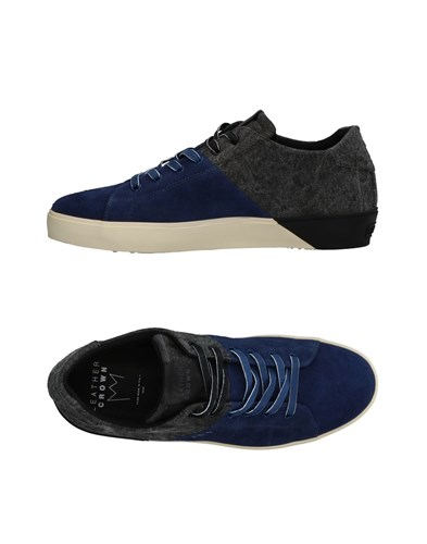 Leather Crown Sneakers Dark Blue SkM0Ep24i