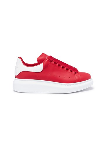 Alexander McQueen 'Larry' Chunky Outsole Leather Sneakers Red 5tHAv7T2