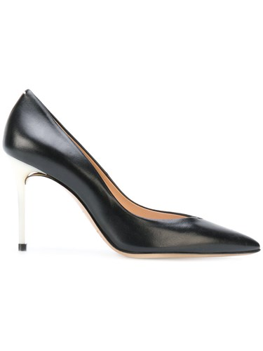 Maison Martin Margiela Contrast Heel Stiletto Pumps Women Leather 38.5 Black bdqcSPj