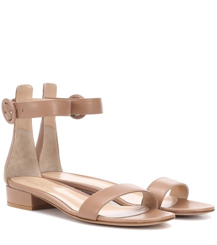 Gianvito Rossi Portofino 20 Leather Sandals Neutrals GBpsH