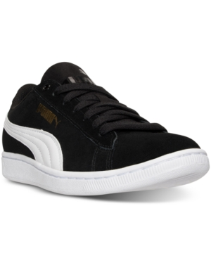 Puma Women's Vikky Canvas Casual Sneakers From Finish Line Black White IHt4ZozuQt