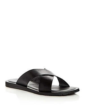 Bloomingdale's The Men's Store At Leather Slide Sandals 100 Exclusive Black IhaBVf3zRX