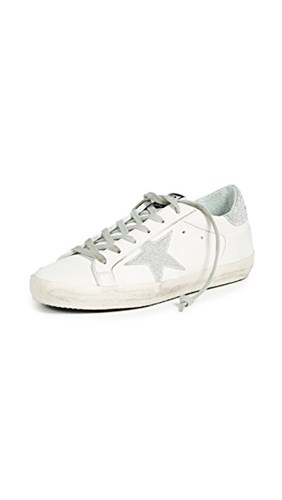Golden Goose Superstar Sneakers White Silver QkLw3W1N