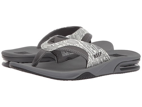 Reef Fanning Prints Grey Lines Men's Sandals Gray c2ESz
