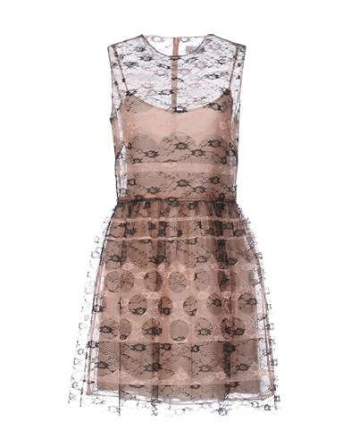 RED Valentino Redvalentino Short Dresses Skin Color ugvmpWDcTI