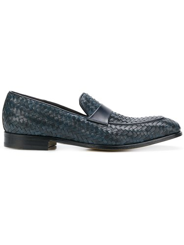 Dell'Oglio Woven Loafers Blue iuFzAGmJ