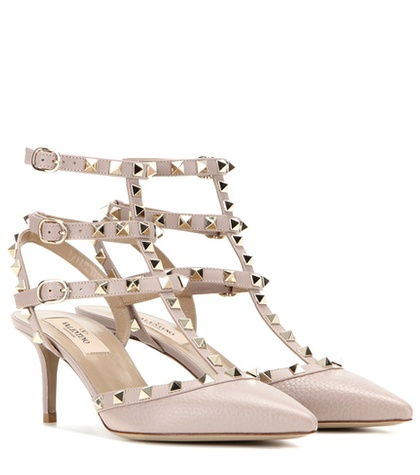 Valentino Rockstud Leather Pumps Neutrals 4GqiUvmYy