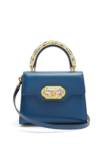 Dolce & Gabbana Welcome Doorbell Leather Bag Blue YR0qD