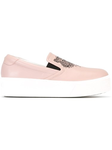 Kenzo Tiger Slip On Sneakers Pink And Purple 2qRLXikn5B
