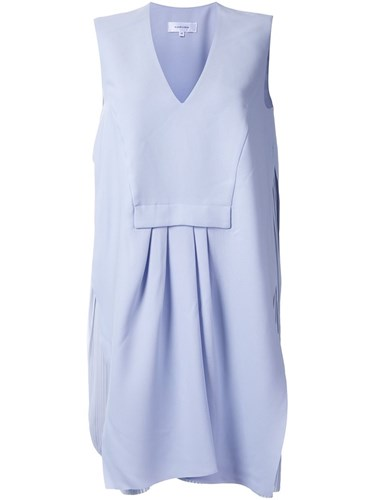 Carven Pleat Detail Shift Dress Pink Purple hNyaOVDGW