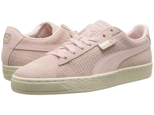 Puma Suede Classic Perforation Pearl Whisper White Lace Up Casual Shoes Pink l1Vexnn