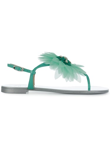 Giuseppe Zanotti Design Flower Petal Sandals Green ucCfb