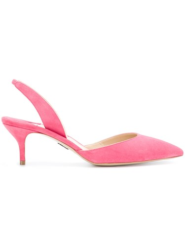 Paul Andrew Slingback Pumps Leather Suede Pink Purple HH5feDaWw