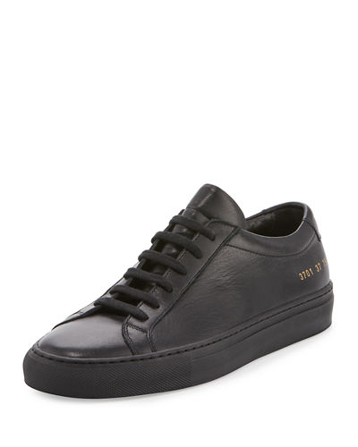 Common Projects Achilles Leather Low Top Sneaker Black XqgFtv