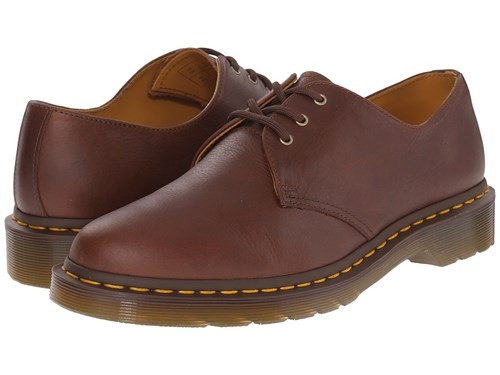 Dr. Martens 1461 3 Eye Shoe Soft Leather Tan Carpathian Lace Up Casual Shoes Brown DtIwg