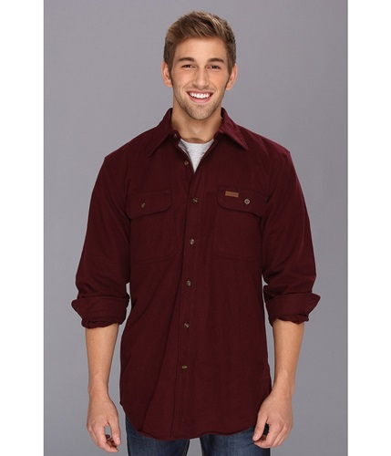 Carhartt chamois l s shirt port men 39 s long sleeve nuji for Carhartt burgundy t shirt