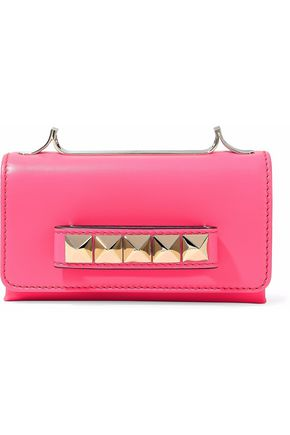 Valentino Va Va Voom Neon Leather Shoulder Bag Bright Pink MAR942oqx
