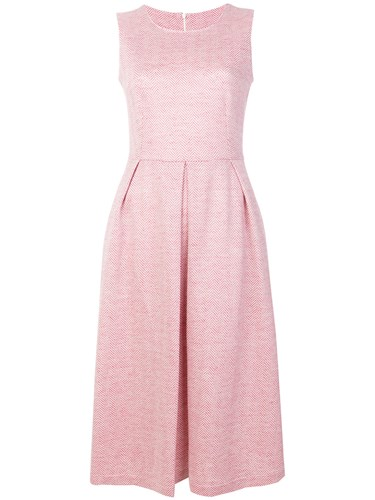 Harris Wharf London Fit And Flare Dress Pink And Purple dq7EsCGlG