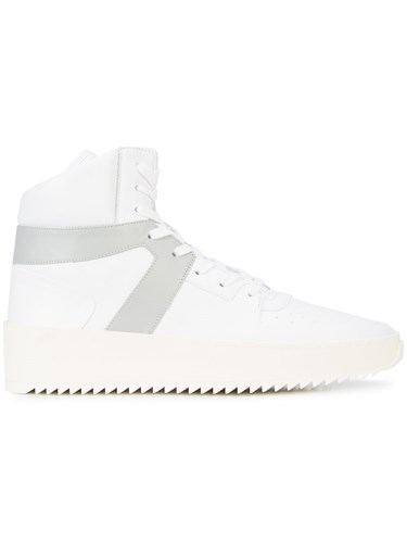 Fear Of God Contrast Panel Hi Top Sneakers Leather Rubber White d4VRA