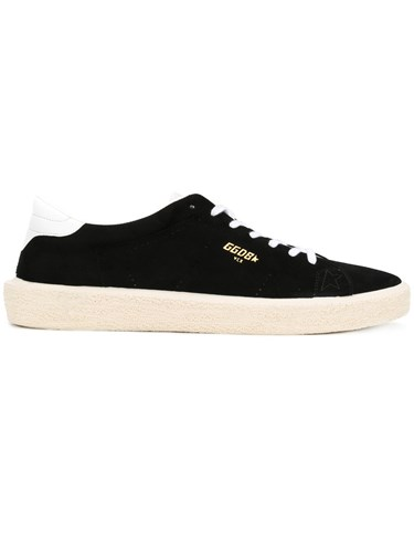Golden Goose Deluxe Brand Tennis Sneakers Men Cotton Suede Rubber 40 Black K2SvDiplgC