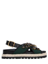 Marni 30Mm Crystals Neoprene Sandals