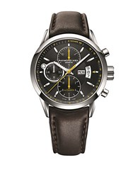 Raymond Weil Mens Stainless Steel Mechanical Chronograph Watch With Leather Strap Brown