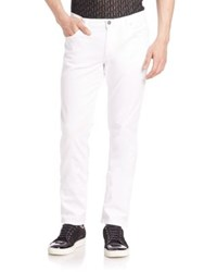 Versace Slim Fit White Jeans