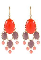 David Aubrey Earrings Red