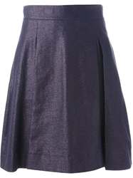 Stills Sparkle Pleat Skirt Blue