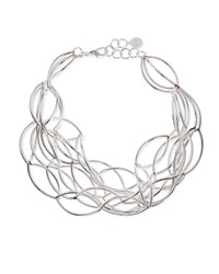 Silver Plate Twisted Collar Necklace Nest Jewelry