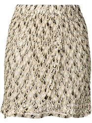 Missoni Mare Embroidered Pattern Short Skirt Neutrals