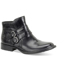 Born Born Pirlo Buckle Booties Women's Shoes Black