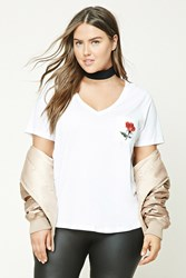 Forever 21 Plus Size No Love Graphic Tee White Black