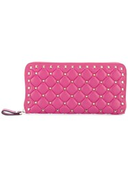 Valentino Studded Large Wallet Pink Purple