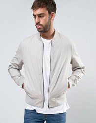 New Look Cotton Bomber In Stone Stone