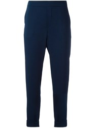 P.A.R.O.S.H. Casual Tapered Trousers Blue