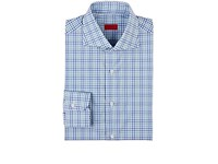 Isaia Men's Checked Cotton Shirt Blue Green White