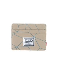 The Herschel Supply Co. Brand Small Leather Goods Document Holders Men Beige