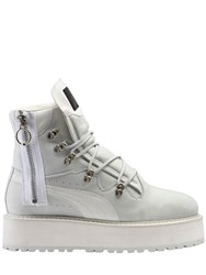 Fenty X Puma 35Mm Zip Up Nubuck Platform Boots