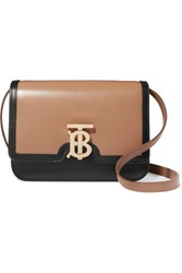 Burberry Tb Two Tone Leather Shoulder Bag Camel