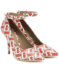 Burberry Wiltkin Printed Leather Pumps Multicoloured