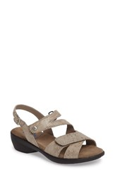 Wolky Women's Fria Sandal Taupe Molly Leather