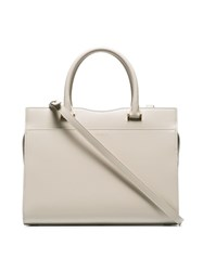 Saint Laurent Cream Uptown Small Leather Tote Bag White
