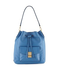 Cole Haan Allanna Smooth Leather Backpack Blue
