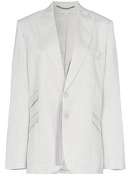 Stella Mccartney Single Breasted Suit Blazer Grey