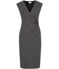 Cc Spot Print Jersey Wrap Dress Black